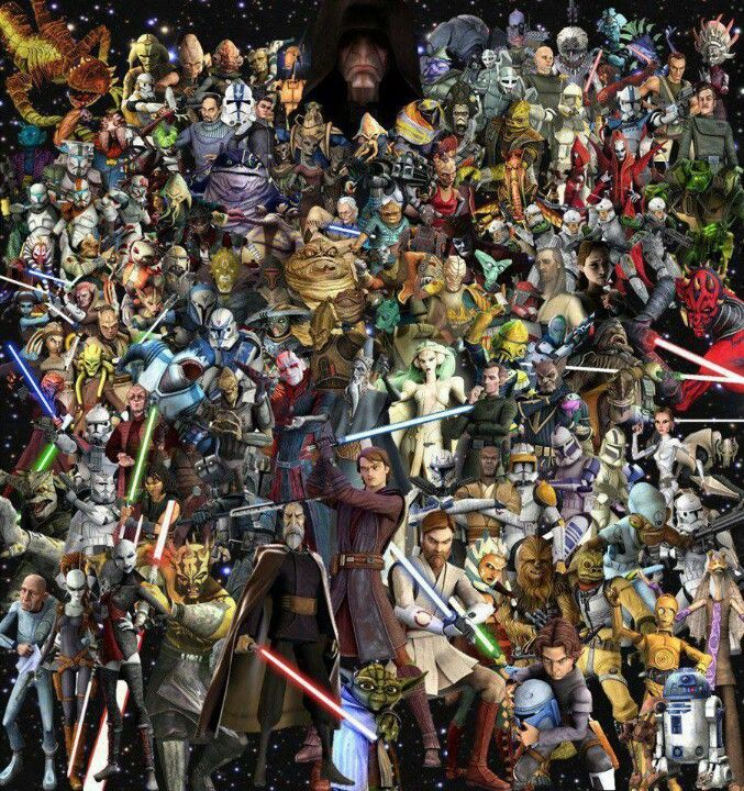 Star Wars The Clone Wars. Can you name them all? I can!!!