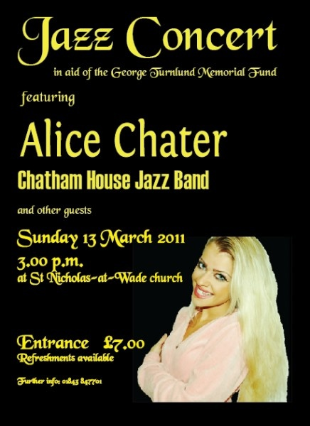 Jazz Concert with Alice Chater