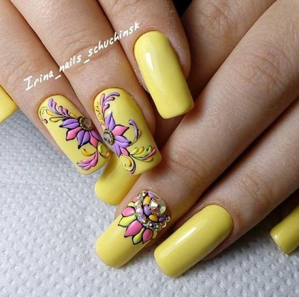 Свит блюм дизайн ногтей
