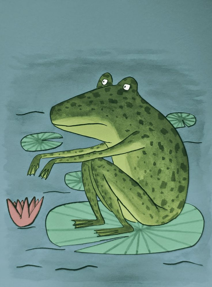 Frog in the gloom.