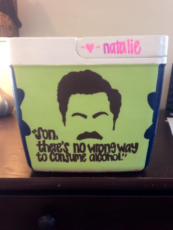 Cooler #2 - Ron Swanson quote
