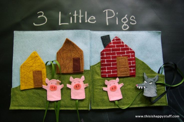 three little pigs, quiet book page