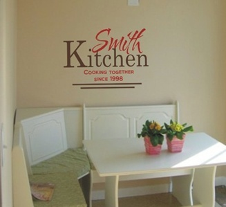 wall art for kitchen area, vinyl yet looks hand-painted. Beautiful designs for all uses.
