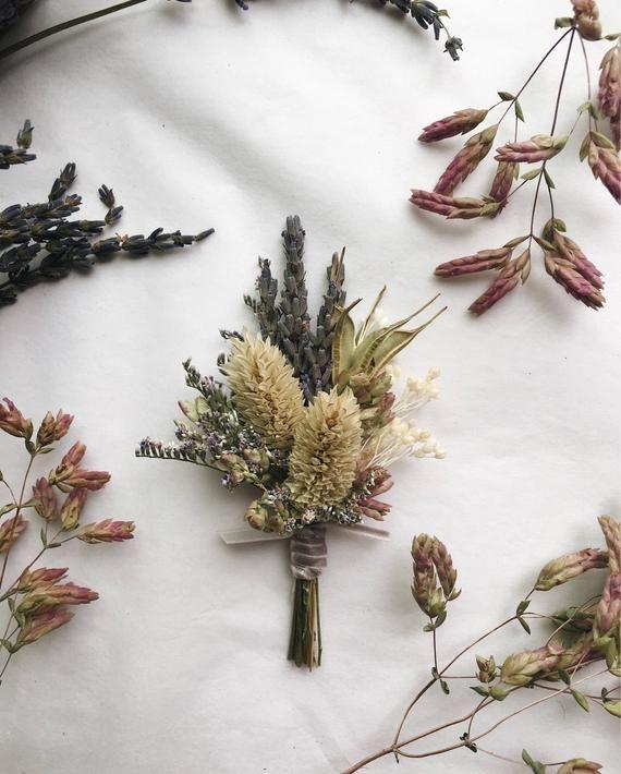 Lavender Millet Boutonniere Flower Boutonniere Dried Etsy In 2020 Dried Flowers Dried Flower Bouquet Flowers Bouquet