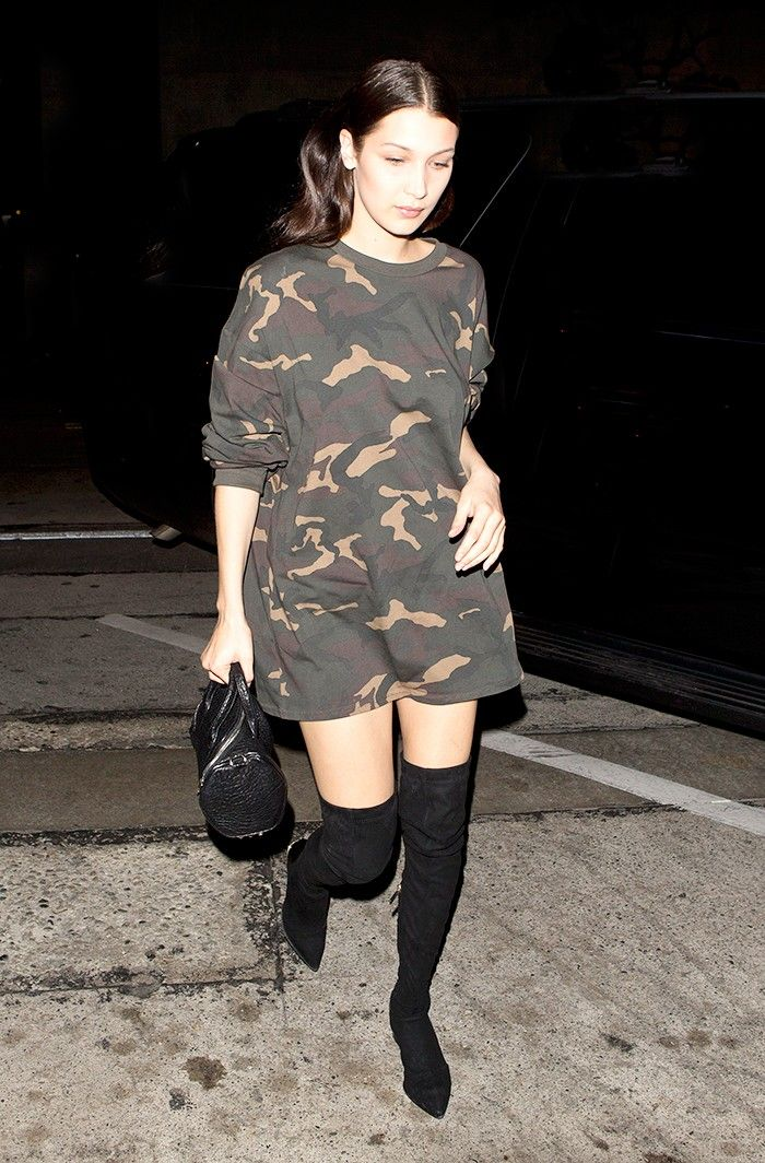 Bella Hadid Lampshades in a Yeezy Top (and It's Perfect) via @WhoWhatWear