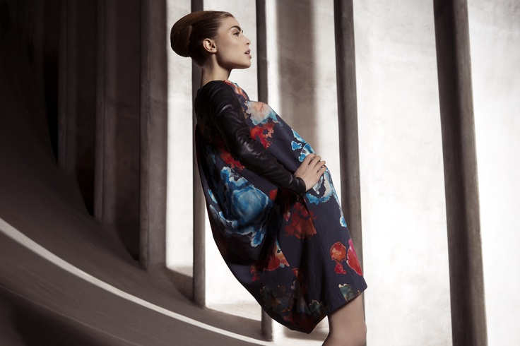 UNEINS AW1314 Hannah Dress #print #fashion #editorial #aw #uneins