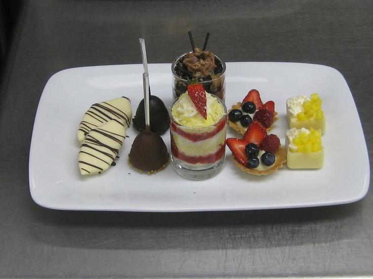 White chocolate dipped pineapple, chocolate Kahlua cheesecake pops ...