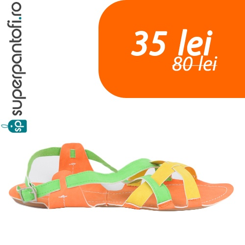 Sandalele Funny Colors la doar 35 de lei.     http://www.superpantofi.ro/super-oferte