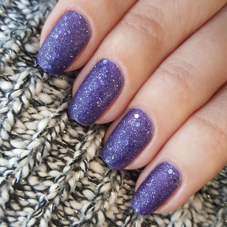Feels like having purple snowflakes on the nails ❄ wearing O.P.I. Mariah Carey Collection Liquid Sand Nail Polish in shade Can't Let Go