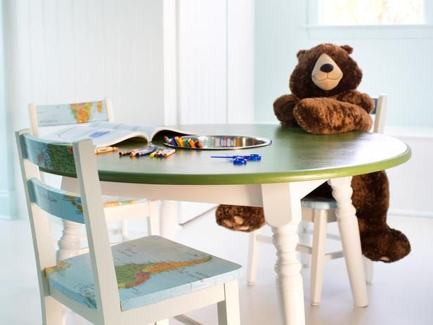 How To Repurpose A Dining Table Into A Kids Activity Table From
