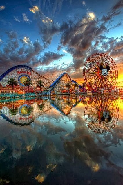 Amazing View of Disneyland, California.....  YES....Disneyland qualifies as Heaven on Earth.
