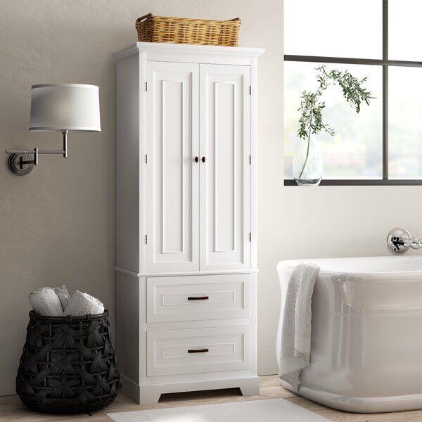 Arapahoe 24 W X 62 H X 16 D Free Standing Linen Cabinet In 2020 Linen Cabinet Bathroom Towel Storage Linen Storage