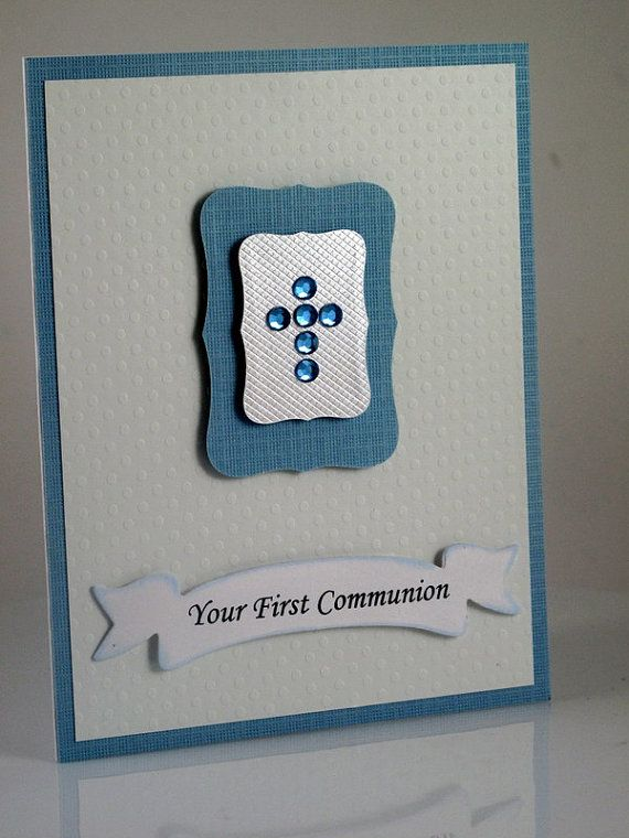 Boys First Communion, Confirmation Handmade Card
