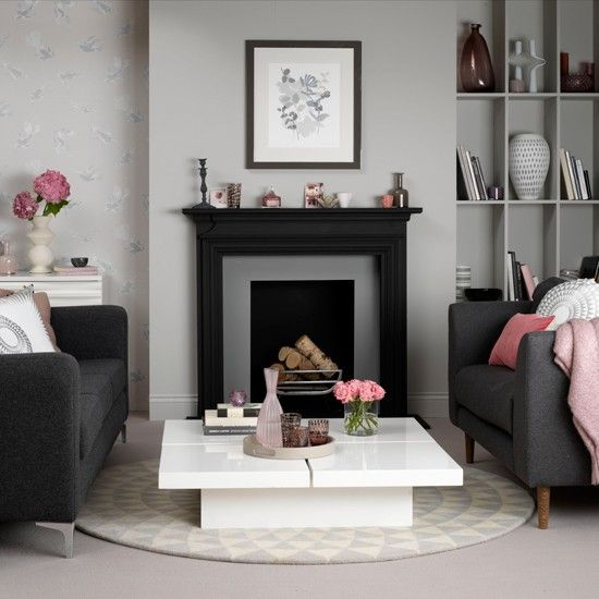 86 best Pink and Grey images on Pinterest Home Spaces and