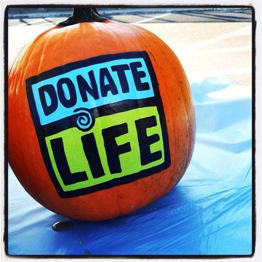 pumpkin donate life