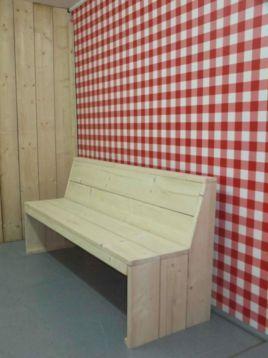 Marktplaats.nl - Spaanse eettafel bank van steigerhout, op maat bij DeHoutwal - Tuinmeubelen