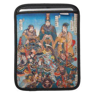 Utagawa Kuniyoshi Legendary Suikoden heroes Sleeves For iPads #kuniyoshi #legendary #heroes #warrior #samurai #general #Suikoden #Japan #japanese #custom #gift #oriental #myth
