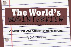 Yearbook Back to School Activity