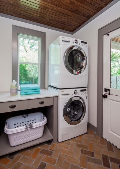 Transitional Laundry Room by CG&S Design-Build