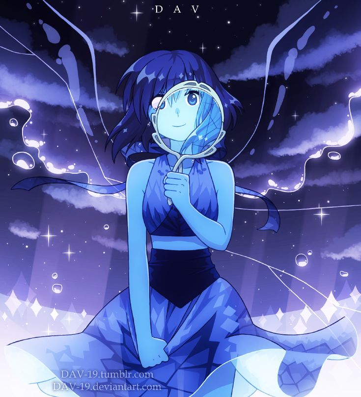 Lapis lazuli, mirror- steven universe (by Dav19 tumbler and deviantART) beautiful