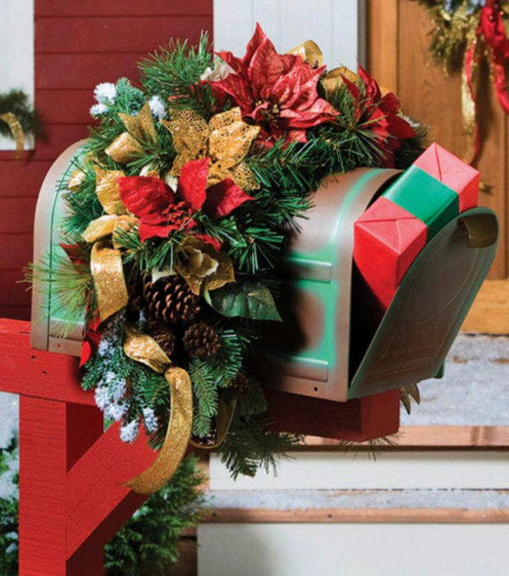 25+ Best Ideas About Christmas Mailbox Decorations On