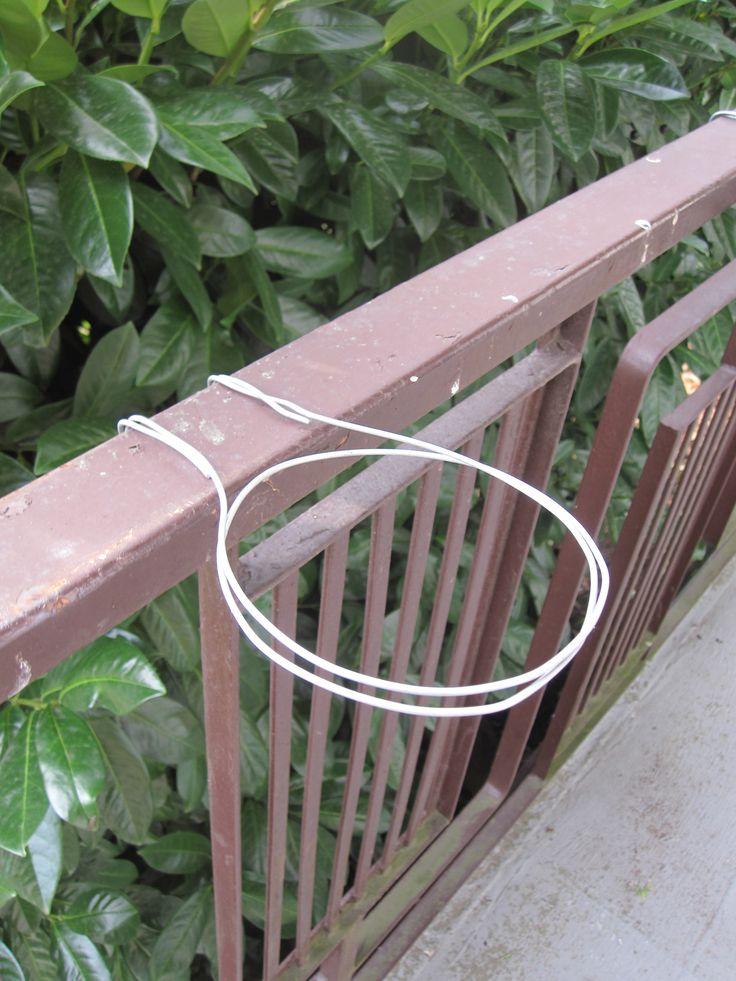 DIY hanging railing planters
