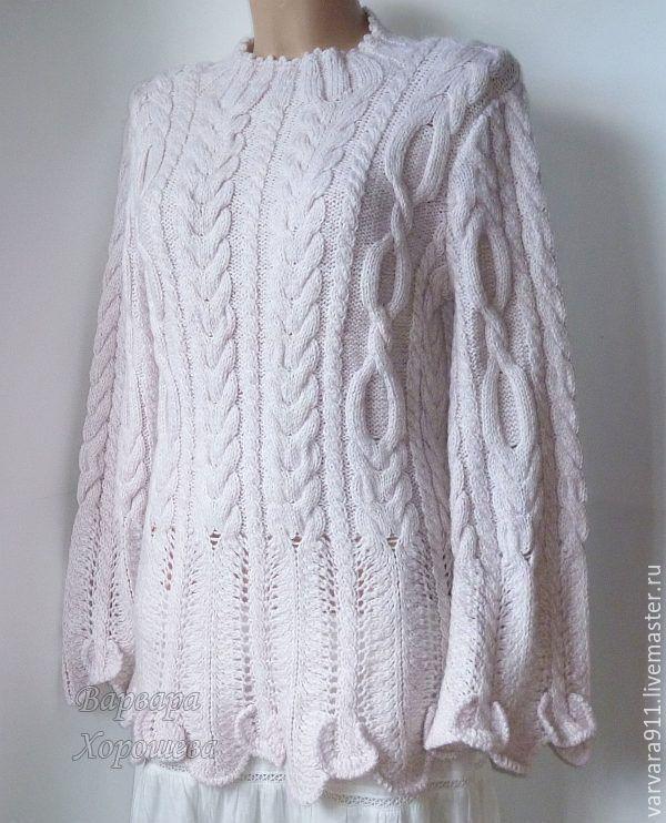 """Купить Вязаный свитер """"Волшебные косы"""" - специальная рубрика, мода 2016, куплю свитер джемпер"""