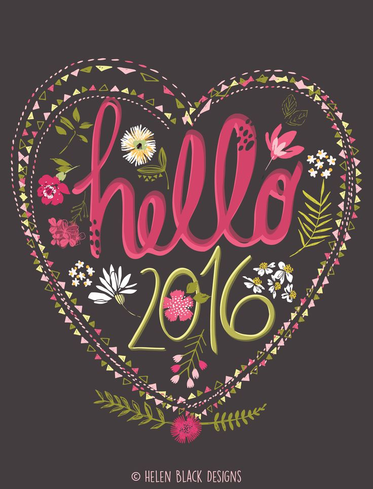 Happy New Year! Happy New Year illustration By Helen Black Designs x