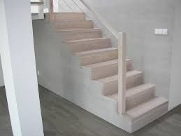 Znalezione obrazy dla zapytania schody drewniane na betonie dąb bielony