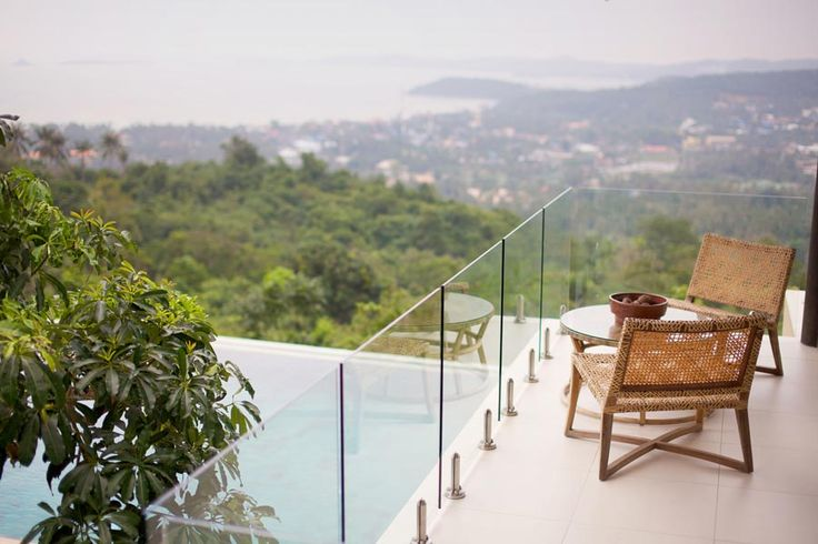 Would you like a cup of coffee while enjoy a million dollar view of Koh Samui at Villa Avasara?