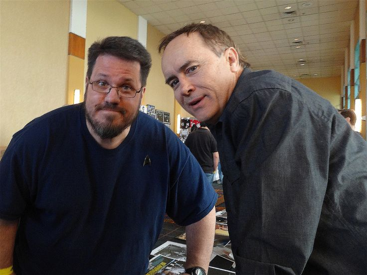 Myself and actor Jeffrey Combs (I was a lot heavier then!  Damn...)