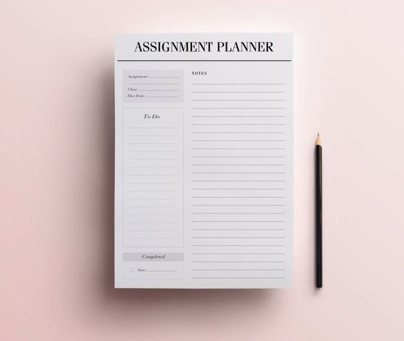 Assignment Planner Page, A4 & A5 Student Planner Printable, Homework / Coursework Organizer with To Do List