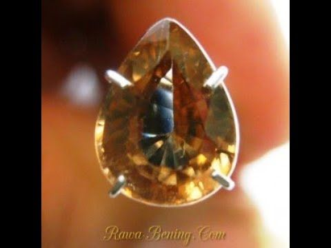 Batu Permata Natural Zircon Pear Cut Orangy Brown 2.26 carat