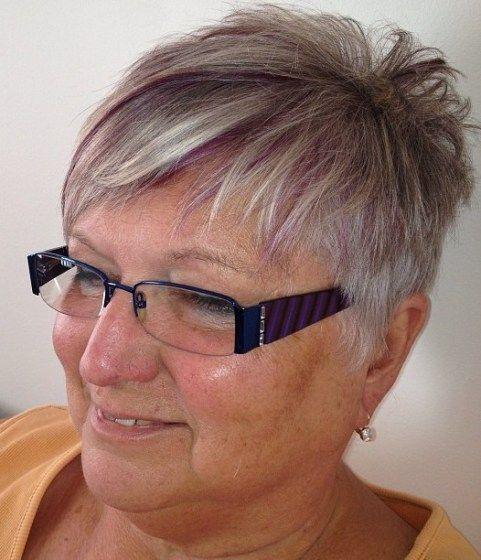 Stylish Short Choppy Cut For Older Women