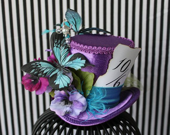 Purple Mini Top Hat Bridal Hat Mini Hats by LittleMissHattitude, $55.00 https://www.etsy.com/ca/listing/189372595/pastel-mini-top-hat-wedding-top-hat-mini?ref=shop_home_active_2