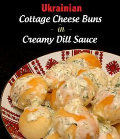 Perishke - Ukrainian Cottage Cheese Buns in Creamy Dill Sauce via http://ClaudiasCookbook.com