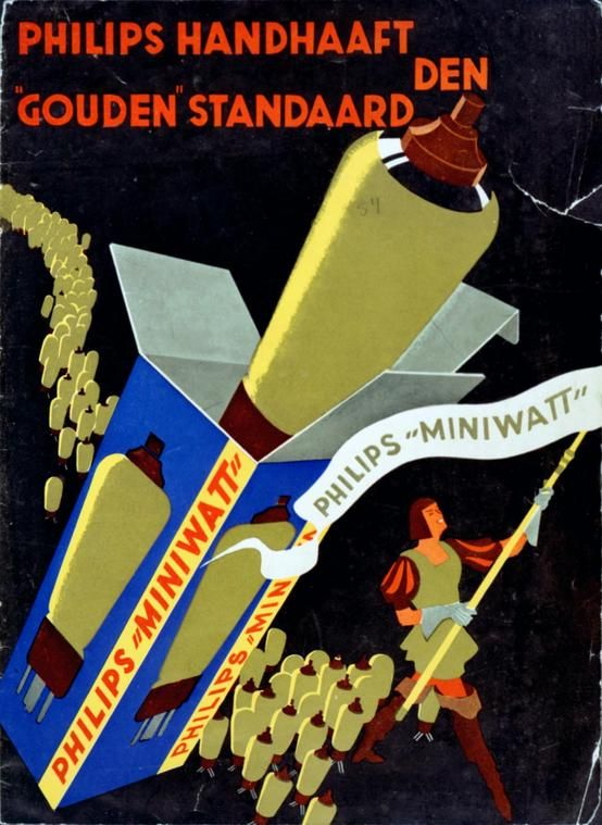 Philips radio valves poster ca 1936 | #history #proud