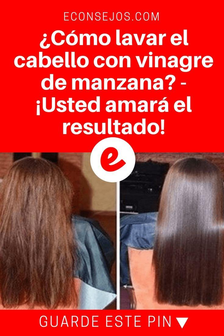 Vinagre de manzana para el cabello | ¿Cómo lavar el cabello con vinagre de manzana? - ¡Usted amará el resultado! | Lavar el cabello con vinagre de manzana es sensacional, pero ¿Cómo hacerlo correctamente para cada tipo de cabello? Eso lo aprenderá ahora?