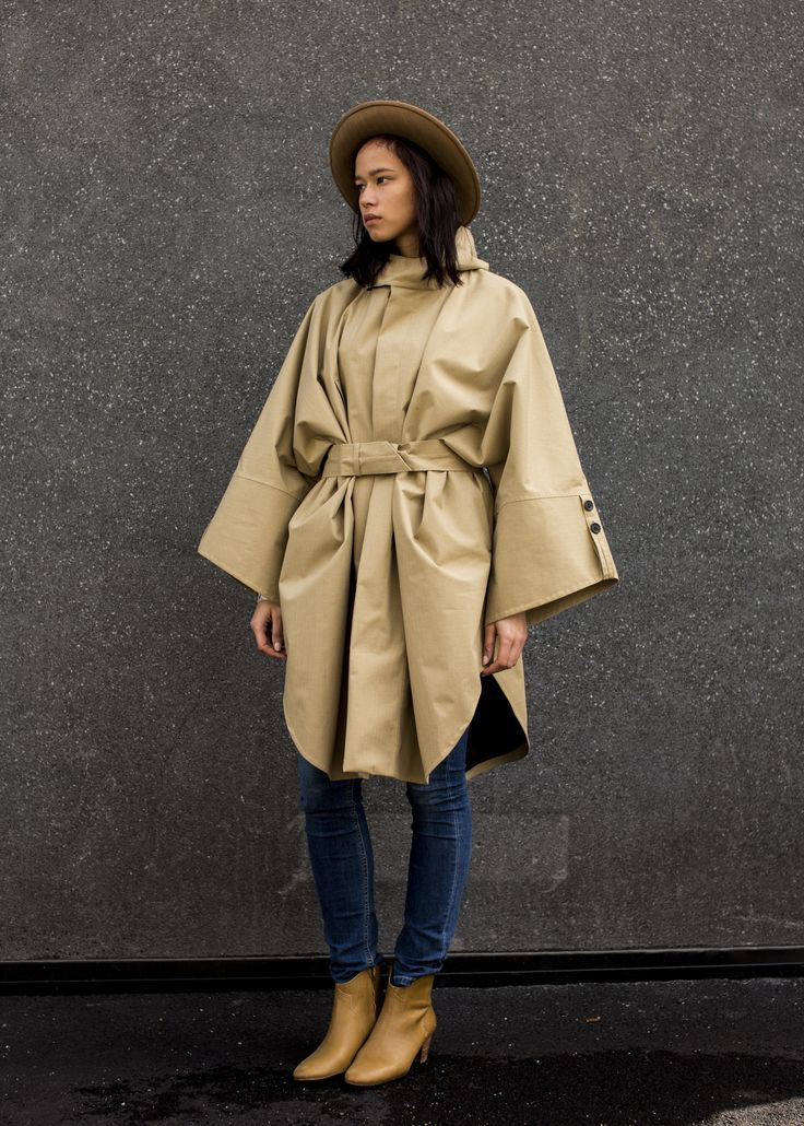 The Raincho coat has become one of Norwegian Rain most iconic pieces and is both an avant garde and a classic.
