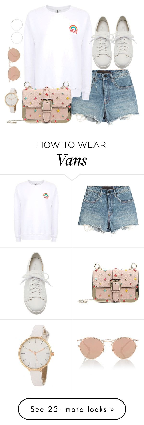 """""""Untitled #3753"""" by theaverageauburn on Polyvore featuring Alexander Wang, Vans, Santoni, RED Valentino and Christian Dior"""