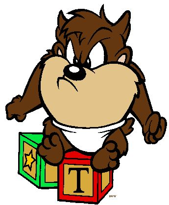 Looney Toons Taz   Baby Looney Tunes Clipart - Quality ...