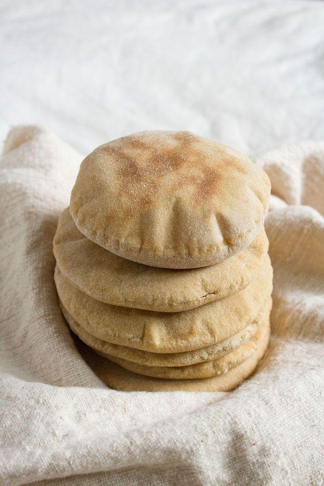 Pita Bread Recipe, Whole Wheat Pita Bread with Step by Step Photos