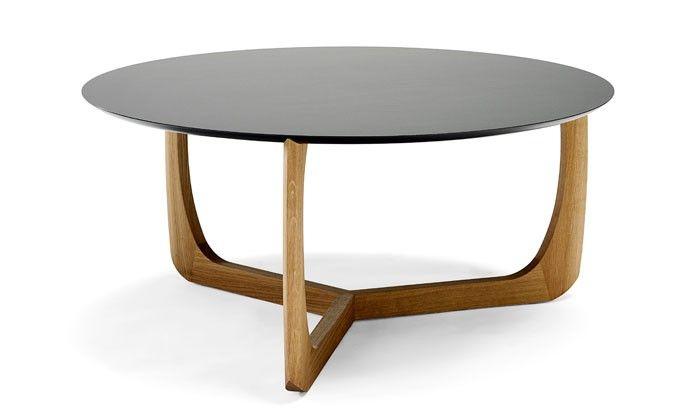 Lili table basse ronde design en forme de nénuphare