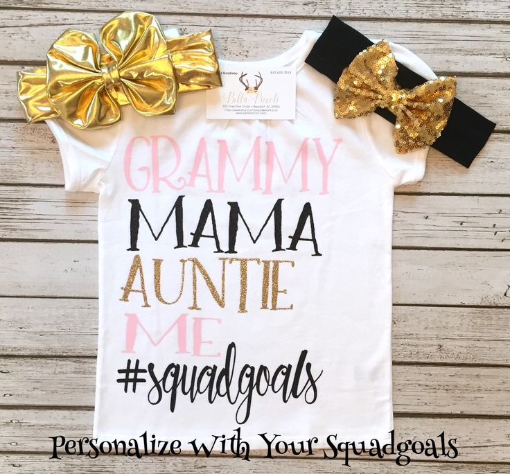 A personal favorite from my Etsy shop https://www.etsy.com/listing/467668898/squadgoals-bodysuit-grandparent-shirts