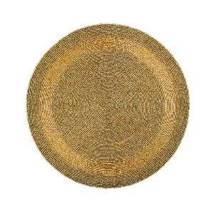 Oro cuentas manteles hogar decoraciones partido hecho a mano por el artesano: Amazon.es: Hogar