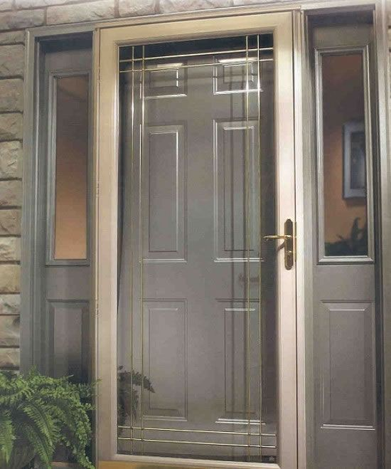 Exterior Doors | Fiberglass Entry Doors Photo Gallery Entry Door W  Sidelites Storm Door . Part 83