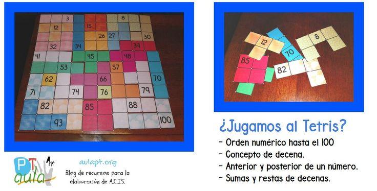 Juego del Tetris con la tabla de 100