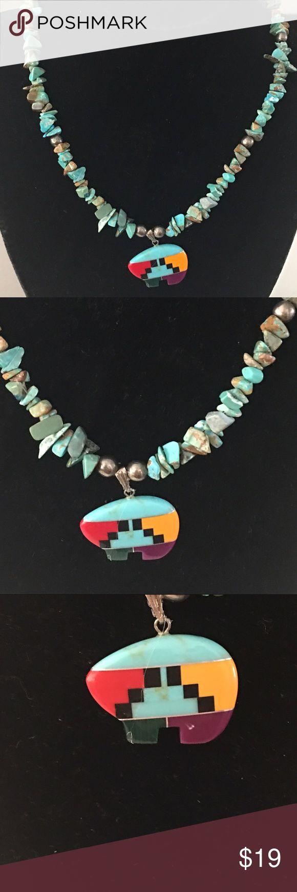 Necklace Indian buffalo fetish Jewelry Necklaces