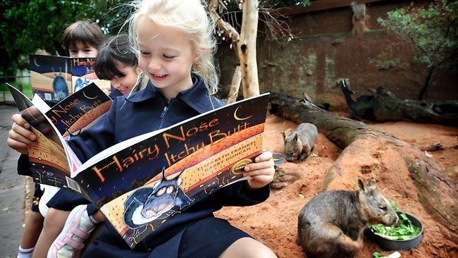 Hairy today, gone tomorrow? Students from Scotch College reading the book. Great article from the Advertiser