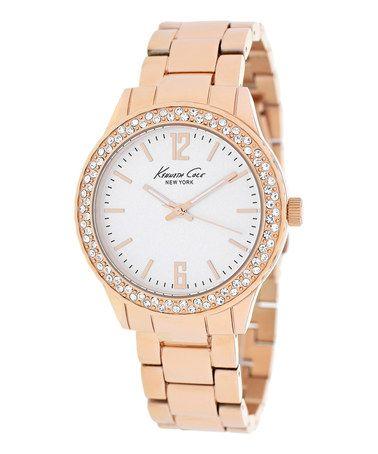 Look at this #zulilyfind! Rose Gold Classic Bracelet Watch by Kenneth Cole #zulilyfinds